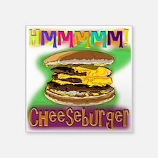 Hmm Cheeseburger Sticker