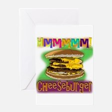 Hmm Cheeseburger Greeting Cards