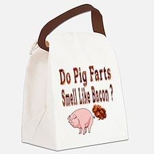 Pig Farts Canvas Lunch Bag