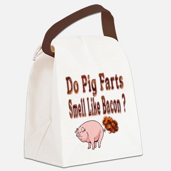 Pig Farts Canvas Lunch Bag