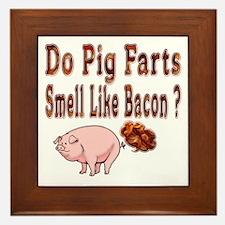 Pig Farts Framed Tile
