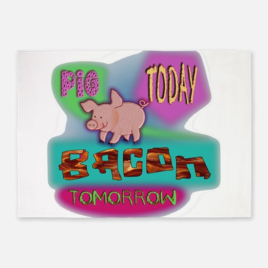 Pig Today 5'x7'Area Rug