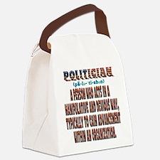 Politician Devious Canvas Lunch Bag