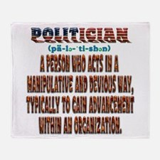 Politician Devious Throw Blanket