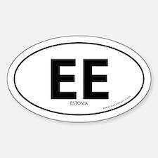 Estonia country bumper sticker -White (Oval)