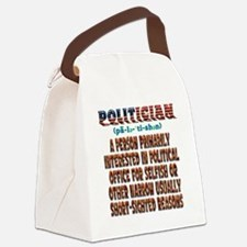 Politician Canvas Lunch Bag