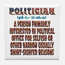 Politician Tile Coaster
