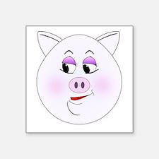 Pretty Pig Sticker