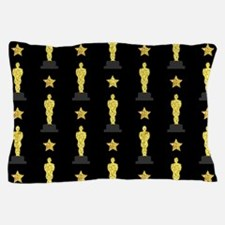 Gold Oscar Statue Pillow Case