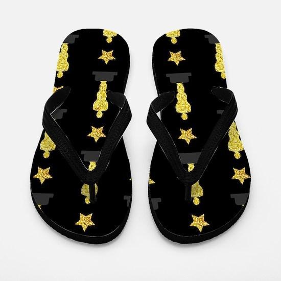 Gold Oscar Statue Flip Flops