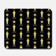 Gold Oscar Statue Mousepad