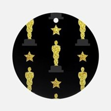 Gold Oscar Statue Round Ornament