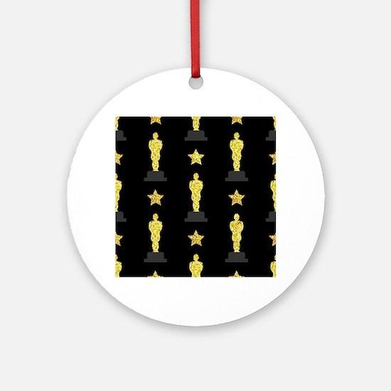 Gold Oscar Statue Round Ornament