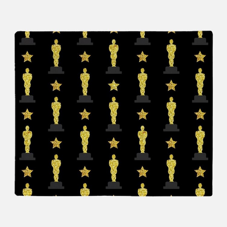 Gold Oscar Statue Throw Blanket
