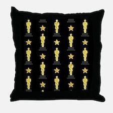 Gold Oscar Statue Throw Pillow