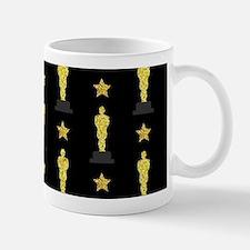 Gold Oscar Statue Mugs