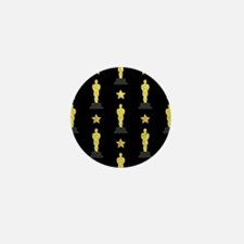 Gold Oscar Statue Mini Button