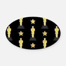 Gold Oscar Statue Oval Car Magnet