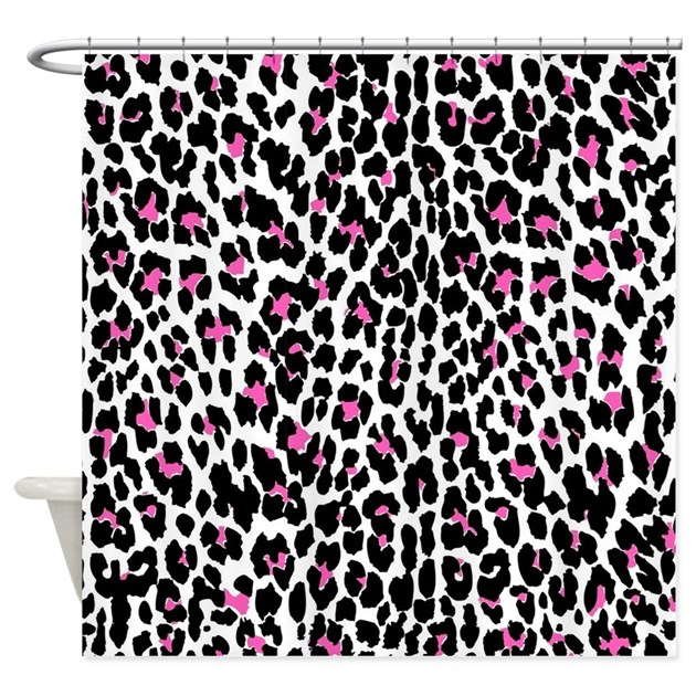 pink leopard print shower curtain by admin cp13506533