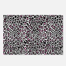 pink leopard print Postcards (Package of 8)