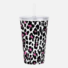 pink leopard print Acrylic Double-wall Tumbler