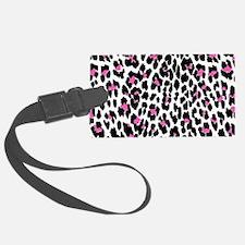 pink leopard print Luggage Tag