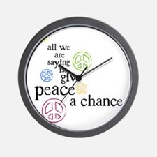 All We Are Saying Wall Clock