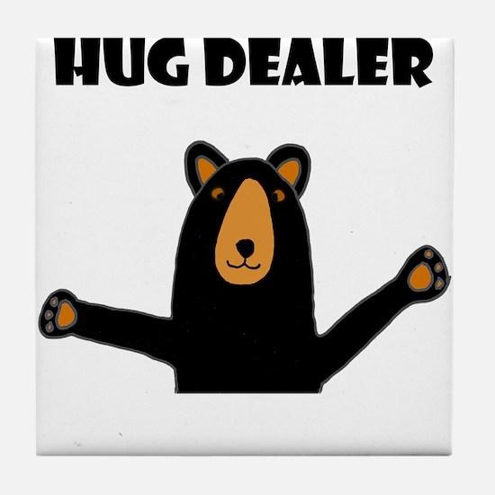 Fun Hug Dealer Bear Tile Coaster