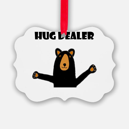 Fun Hug Dealer Bear Ornament