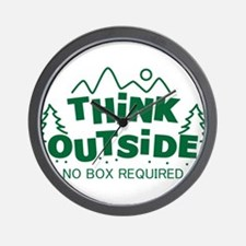 Think Outside No Box Required Wall Clock