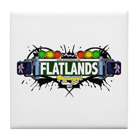 Flatlands (White) Tile Coaster