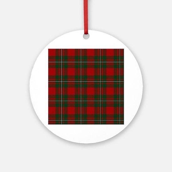 Funny Fabrics Round Ornament