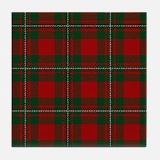Cute Scottish clan tartan Tile Coaster