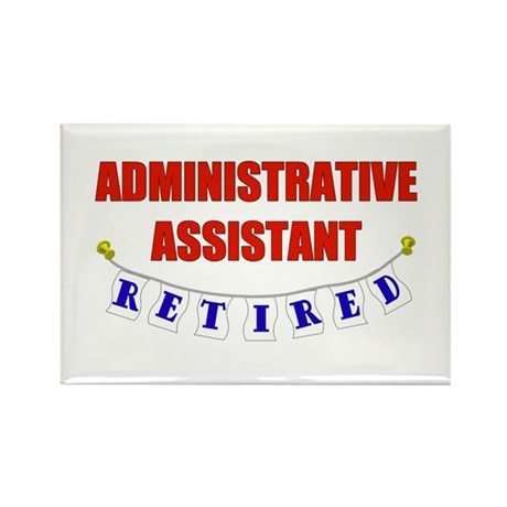 Retired Administrative Assist Rectangle Magnet (10