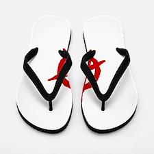 Anarchist Symbol Flip Flops