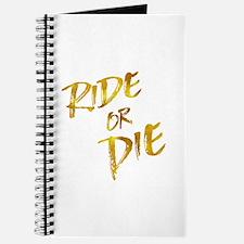 Ride or Die Gold Faux Foil Metallic Motiva Journal