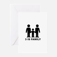3 is family (first baby) Greeting Cards (Package o