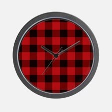 Unique Plaid Wall Clock