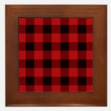 Unique Plaid Framed Tile