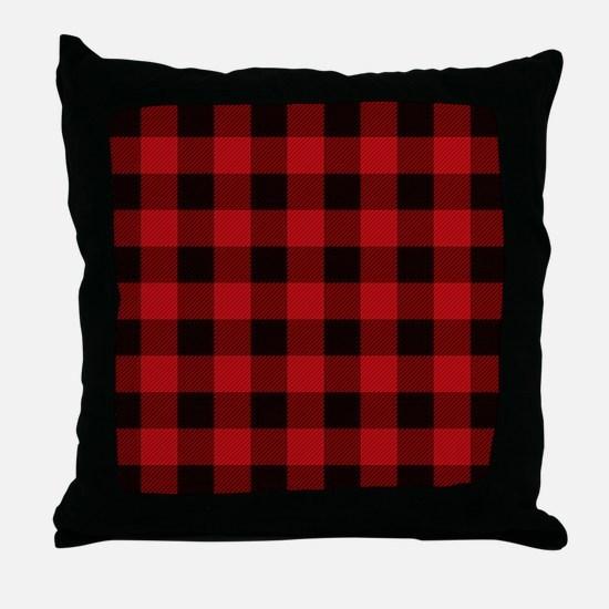 Cute Plaid Throw Pillow