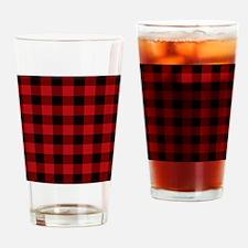 Unique Plaid Drinking Glass