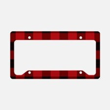 Cottage Buffalo Plaid Lumber License Plate Holder