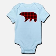 lumberjack buffalo plaid Bear Body Suit
