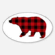lumberjack buffalo plaid Bear Decal