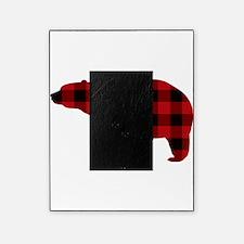 lumberjack buffalo plaid Bear Picture Frame