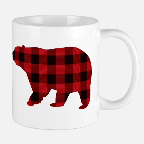 lumberjack buffalo plaid Bear Mugs