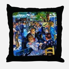 Renoir: Dance at Le Moulin de la Gale Throw Pillow