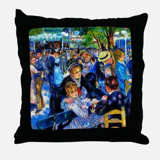 Renoir: Dance at Le Moulin de la Gale Throw Pillow