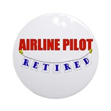 Retired Airline Pilot Ornament (Round)