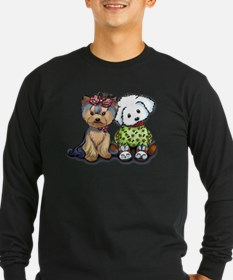 Yorkie and Maltese Long Sleeve T-Shirt